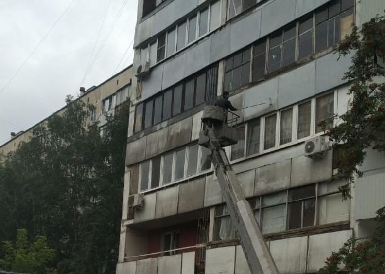 В Алтуфьевском проводится покраска фасадов домов